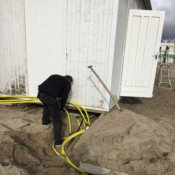 gasleidingen @ Ubuntu Beach