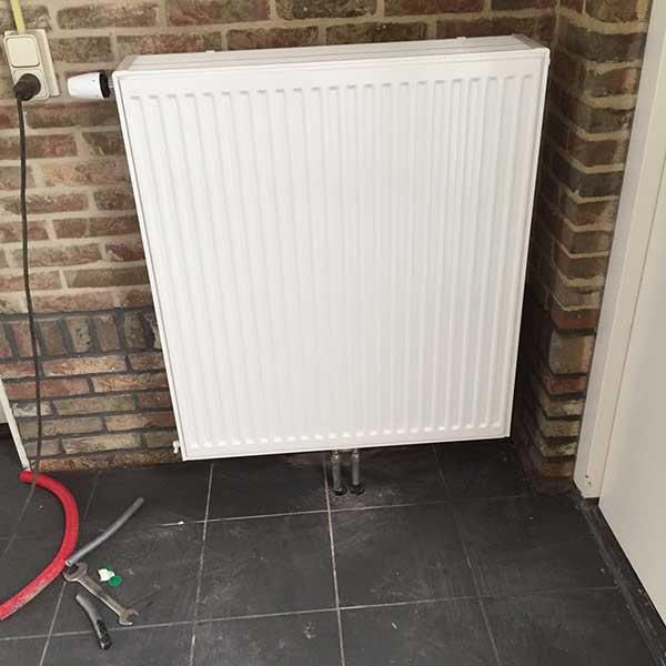 radiator geplaatst